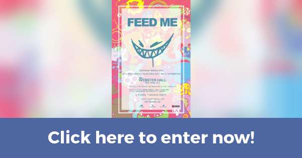 Win a pair of VIP tickets to Feed Me 3/5 (Contest on Hive.co)