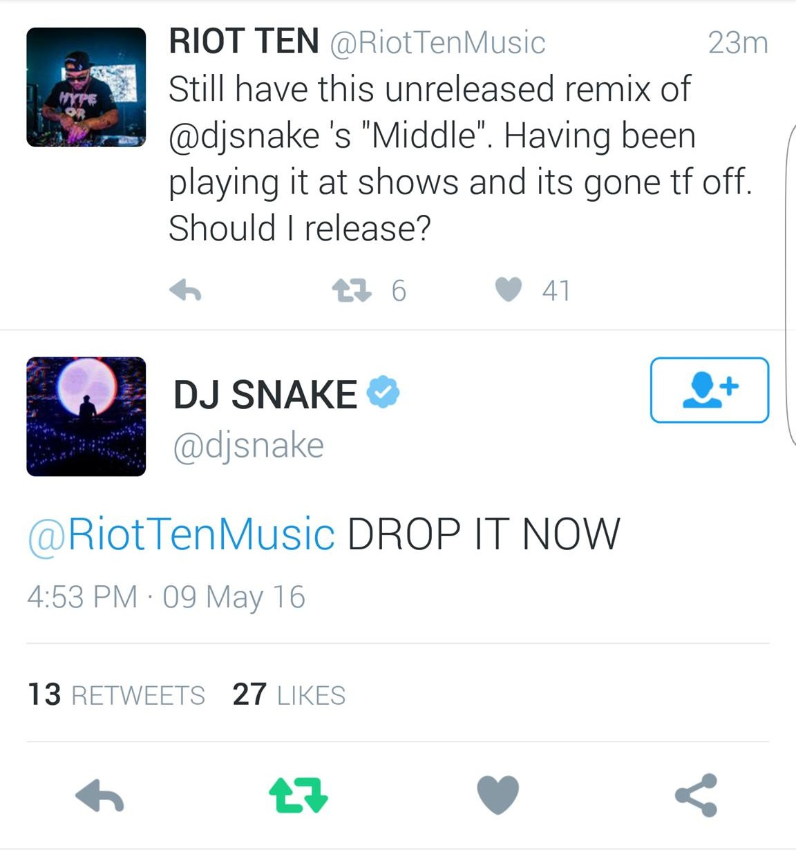 dj snake riot ten middle remix twitter