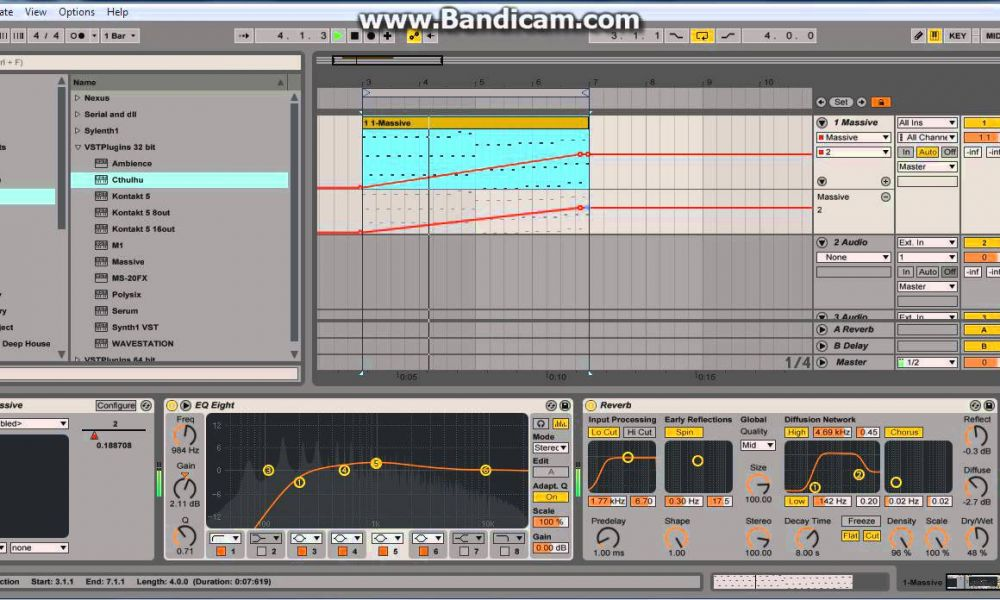 deadmau5 - imaginary friends (ableton live NI massive