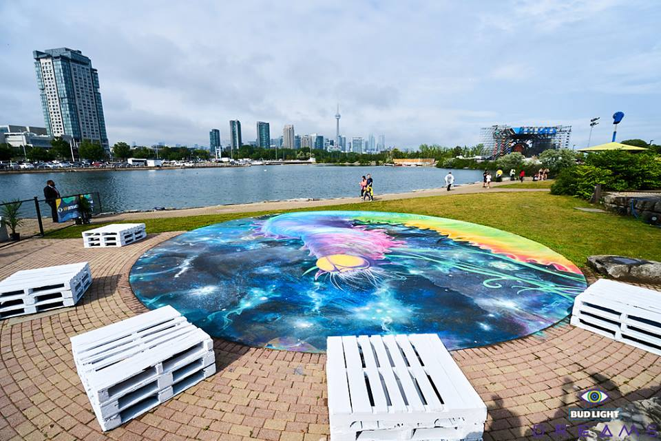 Toronto's Dreams Festival captivates attendees with a striking trifecta of music, art, and atmosphereDreams Mural