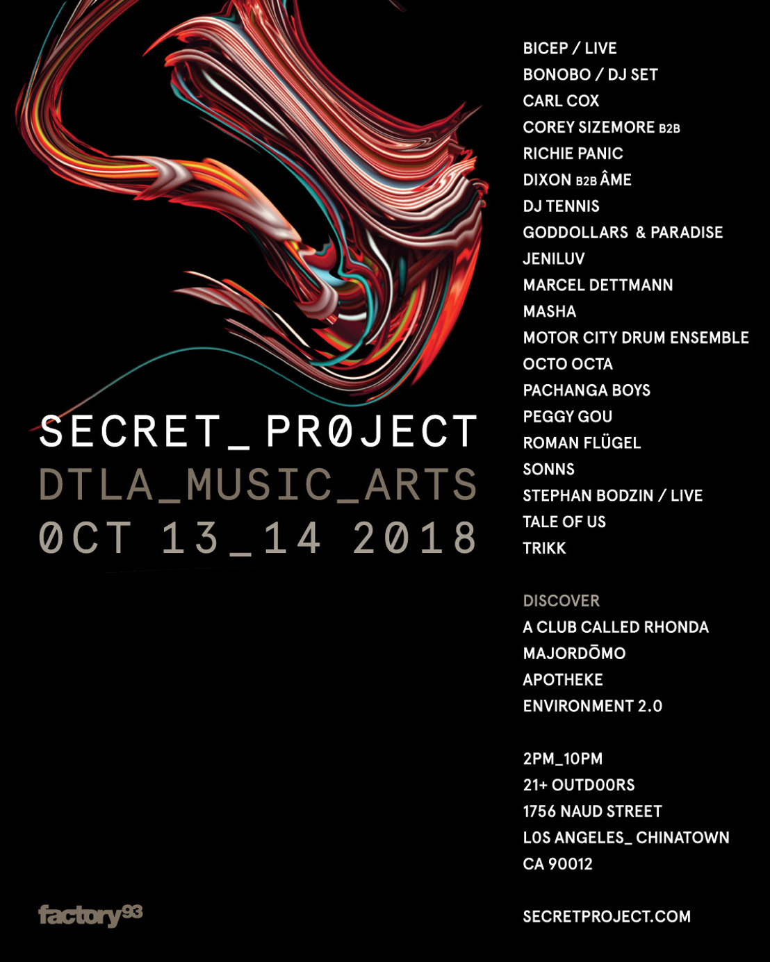 Secret Project will bring Bonobo, Carl Cox and more to new Los Angeles block partyDownload 1