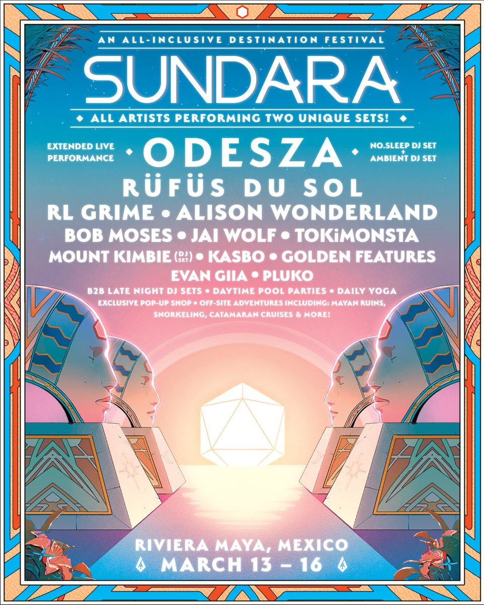ODESZA announce inaugural Foreign Family Collective festival Sundara, topped by RÜFÜS DU SOL, RL Grime, and moreSundara Odesza Lineup